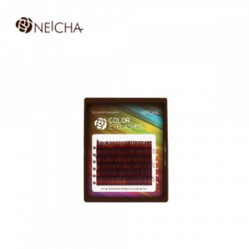 Ресницы цветные NEICHA Wine MINI 6 линий MIX