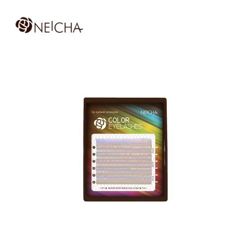Ресницы цветные NEICHA Violet MINI 6 линий MIX